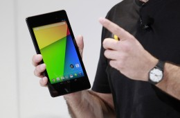 Hugo Barra, director of Product Management at Android, holds a new Nexus 7 tablet during a Google event at Dogpatch Studio in San Francisco