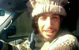 This undated image taken from a Militant Website on Monday Nov. 16, 2015 showing Belgian Abdelhamid Abaaoud. A French official says Abdelhamid Abaaoud is the suspected mastermind of the Paris attacks was also linked to thwarted train and church attacks. (Militant video via AP) France Paris Attacks
