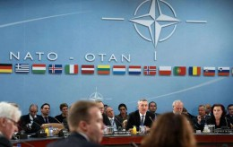 NATO Secretary General Jens Stoltenberg starts the on the South, Partnerships, and Defense Capacity at NATO Headquarters in Brussels, Tuesday, Dec. 1, 2015. (Jonathan Ernst/Pool Photo via AP) Belgium NATO